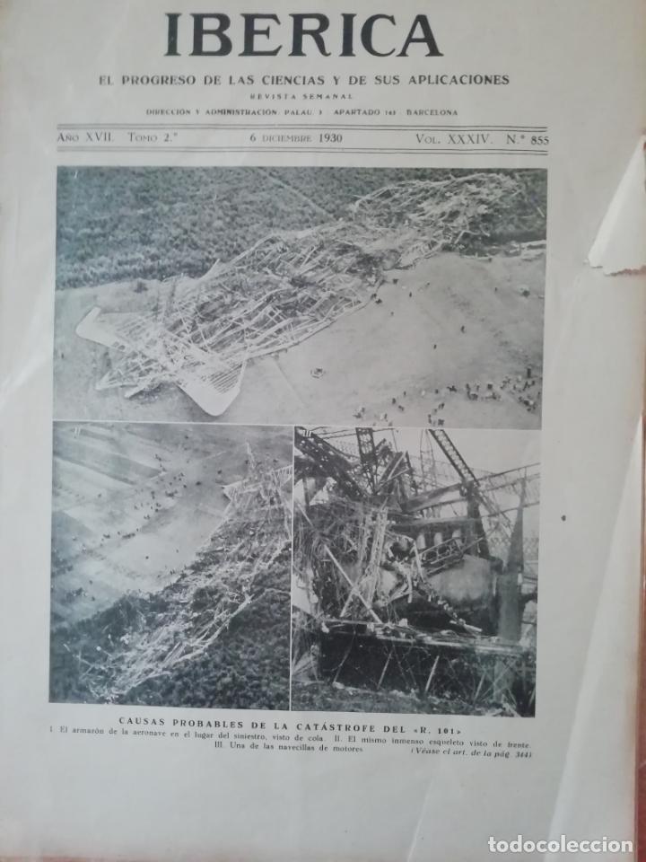 IBERICA Nº855 1930 JOSE RICART GIRALT-SIERRA DE LA DEMANDA MONTES OBARENES VILLANUEVA DE TEBAS (Coleccionismo - Revistas y Periódicos Antiguos (hasta 1.939))