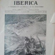 Coleccionismo de Revistas y Periódicos: IBERICA Nº855 1930 JOSE RICART GIRALT-SIERRA DE LA DEMANDA MONTES OBARENES VILLANUEVA DE TEBAS. Lote 190055861
