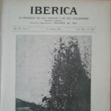 Coleccionismo de Revistas y Periódicos: IBERICA Nº316 1920 LA TELEFONIA RURAL SUESTACIONES AUTOMATICAS ERICSSON. Lote 190055956