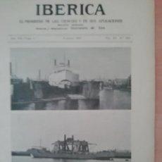 Coleccionismo de Revistas y Periódicos: IBERICA Nº360 1921 MATERIAL MOTORCOMPAÑIAS ESPAÑOLAS DE FERROCARRILES(NORTE,MZA,ANDALUCIA,MCP). Lote 190064490