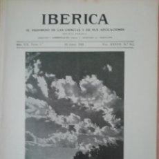 Coleccionismo de Revistas y Periódicos: IBERICA Nº912 1932 INSTALACION DE RIEGO EN LA ISLA DE TENERIFE. Lote 190071355