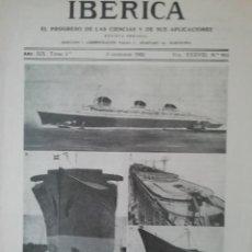 Coleccionismo de Revistas y Periódicos: IBERICA Nº953 1932 EXCURSIONES CIENTIFICAS SOBRADIEL(ZARAGOZA) . Lote 190071618