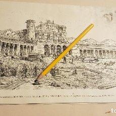 Coleccionismo de Revistas y Periódicos: CONSTRUCCION DEL GRAN PALACIO DE LA INDUSTRIA PARA LA EXPOSICION UNIVERSAL DE BARCELONA,1888. Lote 190079317