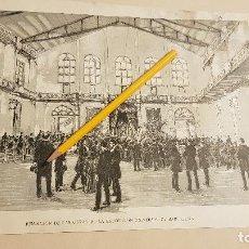 Coleccionismo de Revistas y Periódicos: BENDICION DE LAS OBRAS DE LA EXPOSICION UNIVERSAL DE BARCELONA,1888. Lote 190079582