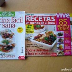 Coleccionismo de Revistas y Periódicos: LOTE 3 REVISTAS COCINA, RECETAS SANAS Y LIGERAS. Lote 190127836