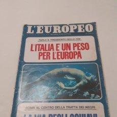 Coleccionismo de Revistas y Periódicos: EJEMPLAR DE LA REVISTA LÉUROPEP DE AGOSTO DE 1972. Lote 190192271