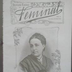 Coleccionismo de Revistas y Periódicos: REVISTA FEMINAL Nº15 1908. Lote 190356766