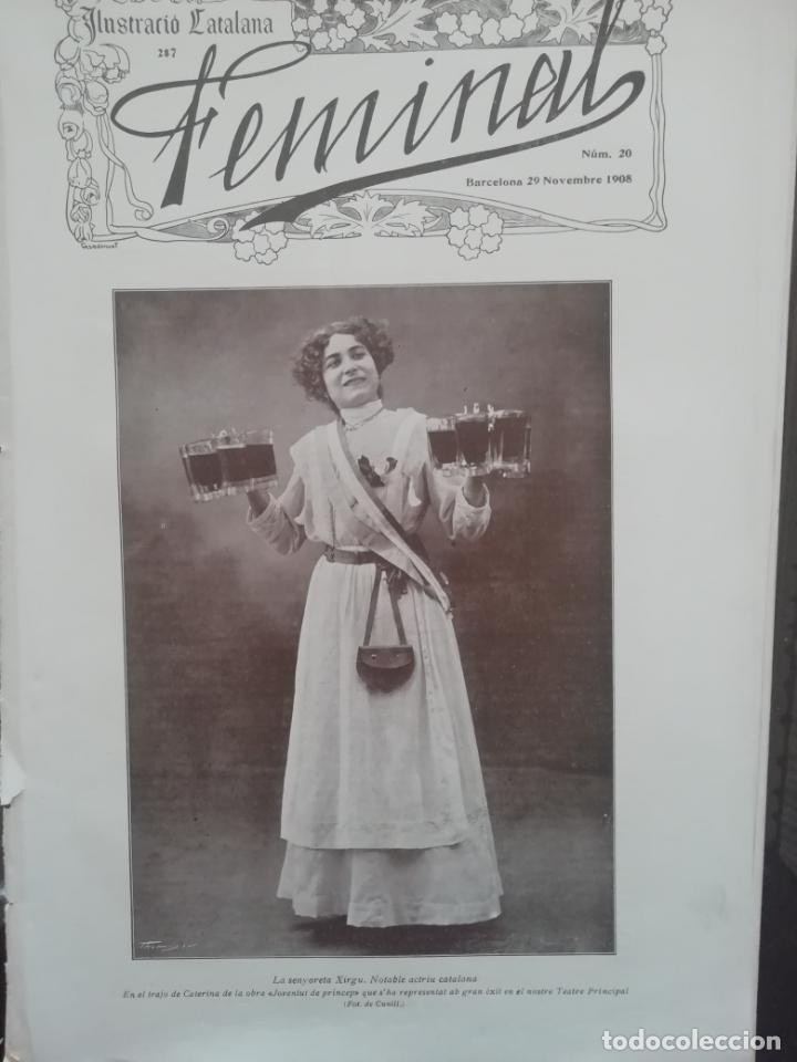 REVISTA FEMINAL Nº20 1908 (Coleccionismo - Revistas y Periódicos Antiguos (hasta 1.939))