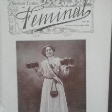 Coleccionismo de Revistas y Periódicos: REVISTA FEMINAL Nº20 1908. Lote 190356880