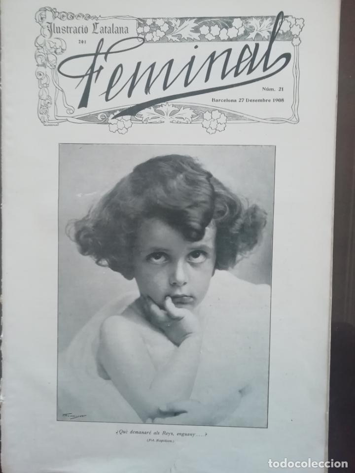REVISTA FEMINAL Nº21 1908 (Coleccionismo - Revistas y Periódicos Antiguos (hasta 1.939))