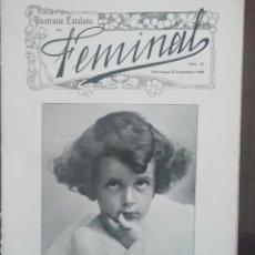 Coleccionismo de Revistas y Periódicos: REVISTA FEMINAL Nº21 1908. Lote 190356908