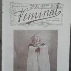 Coleccionismo de Revistas y Periódicos: REVISTA FEMINAL Nº11 1908. Lote 190356933