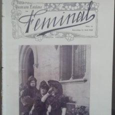 Coleccionismo de Revistas y Periódicos: REVISTA FEMINAL Nº13 1908. Lote 190356991