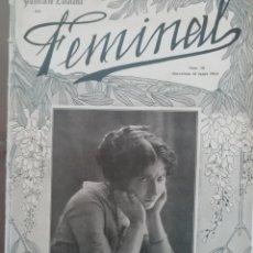 Coleccionismo de Revistas y Periódicos: REVISTA FEMINAL Nº70 1913. Lote 190357053