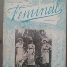 Coleccionismo de Revistas y Periódicos: REVISTA FEMINAL Nº75 1913. Lote 190357111
