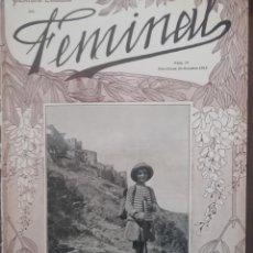 Coleccionismo de Revistas y Periódicos: REVISTA FEMINAL Nº79 1913. Lote 190357218