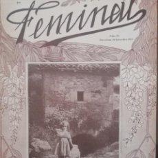 Coleccionismo de Revistas y Periódicos: REVISTA FEMINAL Nº78 1913. Lote 190357363
