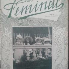 Coleccionismo de Revistas y Periódicos: REVISTA FEMINAL Nº76 1913. Lote 190357400