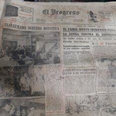 Coleccionismo de Revistas y Periódicos: 1970 PROGRESO LUGO 15 FEBRERO NUEVA ROTATIVA.FOTOS HISTORIA DE CD LUGO FOTOS EMPLEADOS . SIONISMO. Lote 190517116