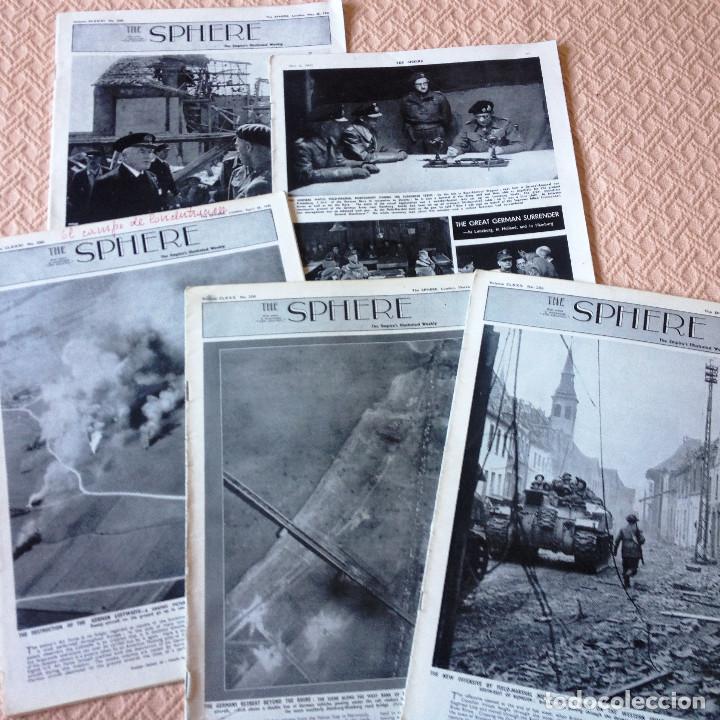 HE SPHERE- 5 REVISTAS DE 1945- GUERRA MUNDIAL- EN INGLES- (Coleccionismo - Revistas y Periódicos Modernos (a partir de 1.940) - Otros)