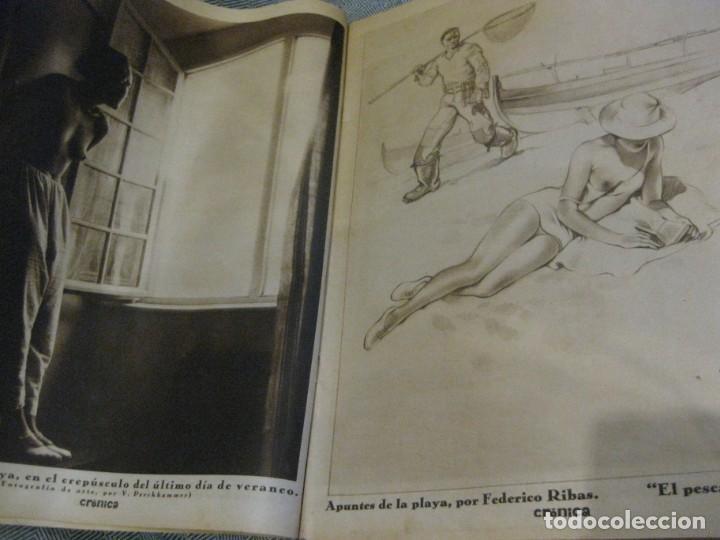 Coleccionismo de Revistas y Periódicos: periodico cronica extra de otoño 1934 desnudos femeninos otoño madrid barcelona - Foto 3 - 190701315