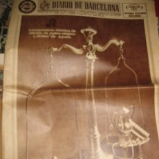 Coleccionismo de Revistas y Periódicos: PERIODICO DIARIO DE BARCELONA SUPLEMENTO JOYERIA PLATERIA RELOJERIA - 1972. Lote 190767878