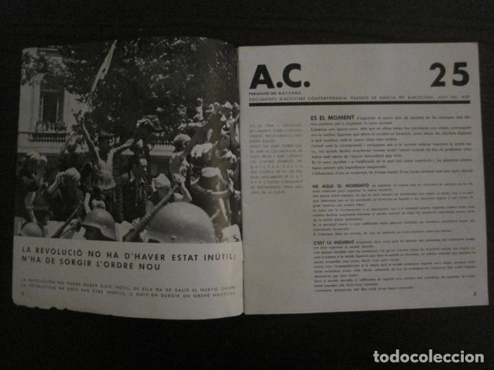Coleccionismo de Revistas y Periódicos: GUERRA CIVIL-A.C. 25-JUNY 1937-SEGELL ANTIFEIXISTA JOAN MIRO-VER FOTOS-(V-18.755) - Foto 3 - 190770922