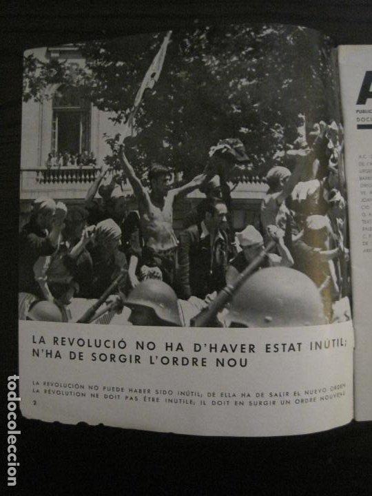 Coleccionismo de Revistas y Periódicos: GUERRA CIVIL-A.C. 25-JUNY 1937-SEGELL ANTIFEIXISTA JOAN MIRO-VER FOTOS-(V-18.755) - Foto 4 - 190770922