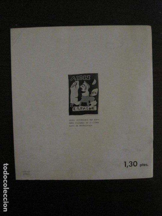 Coleccionismo de Revistas y Periódicos: GUERRA CIVIL-A.C. 25-JUNY 1937-SEGELL ANTIFEIXISTA JOAN MIRO-VER FOTOS-(V-18.755) - Foto 23 - 190770922