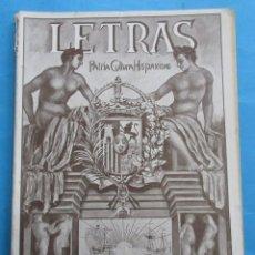 Coleccionismo de Revistas y Periódicos: LETRAS. REVISTA LITERARIA PRO PATRIA, CULTURA E HISPANISMO. Nº6. ENERO 1930. 66 PÁGINAS. 24,5X17CM. Lote 190810632