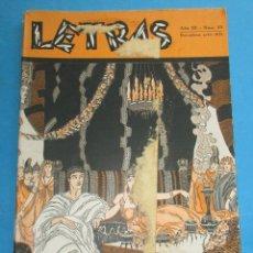 Coleccionismo de Revistas y Periódicos: LETRAS. REVISTA LITERARIA DE CULTURA E HISPANISMO.Nº23. JULIO. 1931. 71 PÁGINAS. 24,5X17CM. Lote 190811781