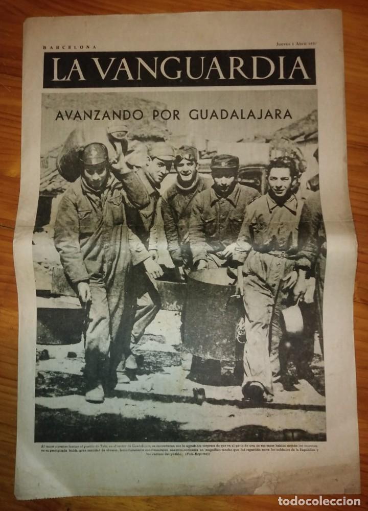 Coleccionismo de Revistas y Periódicos: La Vanguardia 1937. Guerra civil española. Guadalajara. Yela. Belchite. Lecera. - Foto 3 - 147543406