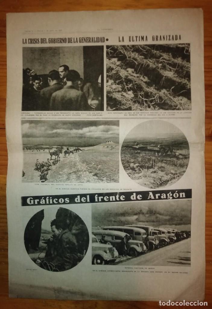 Coleccionismo de Revistas y Periódicos: La Vanguardia 1937. Guerra civil española. Guadalajara. Yela. Belchite. Lecera. - Foto 6 - 147543406