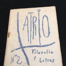 Coleccionismo de Revistas y Periódicos: REVISTA ATRIO Nº 2. FILOSOFÍA Y LETRAS. BARCELONA, ABRIL 1960.. Lote 190839355