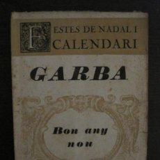 Coleccionismo de Revistas y Periódicos: GARBA-SABADELL-NUMEROS 35·37-DESEMBRE 1922-FESTES DE NADAL I CALENDARI-VER FOTOS-(V-18.777). Lote 190850637
