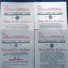 Coleccionismo de Revistas y Periódicos: LA VOZ DE LA FARMACIA (1932 - 1934 ) UNION FARMACEUTICA NACIONAL / ARTICULOS - PUBLICIDAD / FARMACIA. Lote 190865841