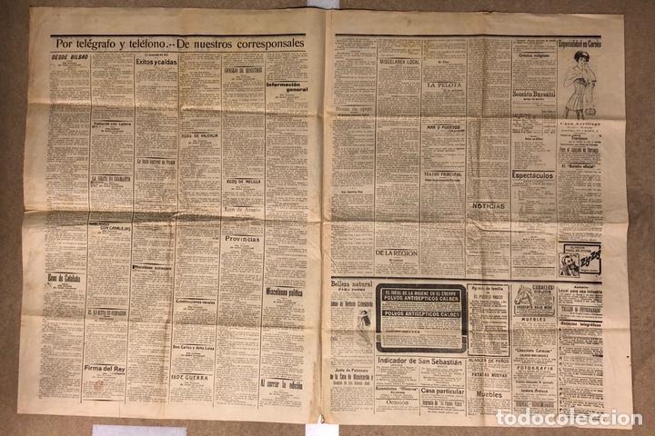 Coleccionismo de Revistas y Periódicos: EL PUEBLO VASCO (DIARIO INDEPENDIENTE), SAN SEBASTIÁN 20 DE ABRIL DE 1910. ANTIGUO PERIÓDICO VASCO. - Foto 2 - 190869032