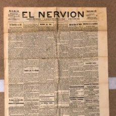 Coleccionismo de Revistas y Periódicos: EL NERVIÓN (PERIÓDICO INDEPENDIENTE), BILBAO 8 DE ABRIL DE 1910.. Lote 190869162