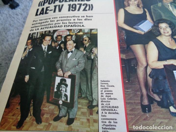 Coleccionismo de Revistas y Periódicos: LA ACTUALIDAD ESPAÑOLA 1973 - POPULARES TV 1972 - UN, DOS, TRES - FELIX RODRIGUEZ DE LA FUENTE ... - Foto 4 - 190895227