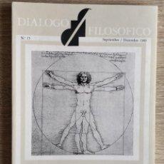 Coleccionismo de Revistas y Periódicos: DIALOGO FILOSÓFICO. NUM. 15, SEPTIEMBRE / DICIEMBRE 1989. Lote 190896595