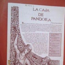 Coleccionismo de Revistas y Periódicos: LA CAJA DE PANDORA REVISTA COMUNIDAD EDUCATIVA COLEGIO SAGRADO CORAZON ESCLAVAS ESPECIAL 2000. Lote 190924300