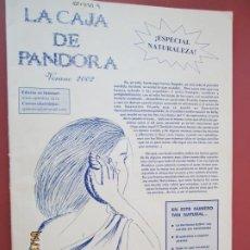 Coleccionismo de Revistas y Periódicos: LA CAJA DE PANDORA REVISTA COMUNIDAD EDUCATIVA COLEGIO SAGRADO CORAZON ESCLAVAS -VERANO 2002 . Lote 190925468