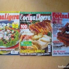 Coleccionismo de Revistas y Periódicos: LOTE 3 REVISTAS COCINA LIGERA Y VIDA SANA. Lote 190927022
