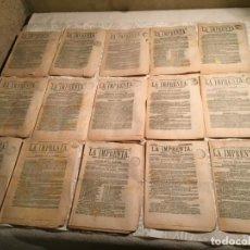 Coleccionismo de Revistas y Periódicos: ANTIGUO PERIODICO DE MAÑANA Y TARDE LA IMPRENTA DIARIO DE AVISOS NOTICIAS Y DECRETOS AÑO 1876. Lote 190990027
