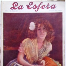 Coleccionismo de Revistas y Periódicos: LA ESFERA. ILUSTRACIÓN MUNDIAL. 13 DE JUNIO DE 1914, N.º 24.. Lote 191007242