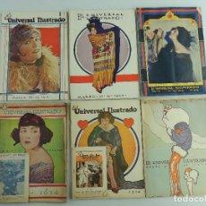 Coleccionismo de Revistas y Periódicos: COLECCION DE 6 ANTIGUAS REVISTAS EL UNIVERSAL ILUSTRADO. Lote 191072538
