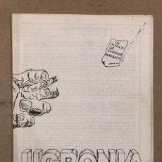 Coleccionismo de Revistas y Periódicos: UCRONIA (MADRID 1976). HISTÓRICO FANZINE ORIGINAL LIBERTARIO ANARQUISTA.. Lote 191110882