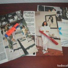 Coleccionismo de Revistas y Periódicos: ENTREVISTA CARMEN ORDOÑEZ Y HIJOS VISITARON A ISABEL PANTOJA- RECORTE 9 PAG . -REVISTA HOLA AÑO 1984. Lote 191169813