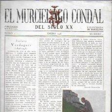 Coleccionismo de Revistas y Periódicos: EL MURCIÉLAGO CONDAL DEL SIGLO XIX. ENERO 1946. Nº1.31X21CM.20 P+2 CARTULINAS CON 7 LAM.(FALTA1LAM) . Lote 191191372