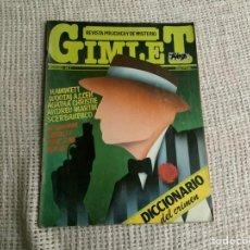 Coleccionismo de Revistas y Periódicos: GIMLET Nº 1 REVISTA POLICÍACA Y DE MISTERIO. Lote 191209451